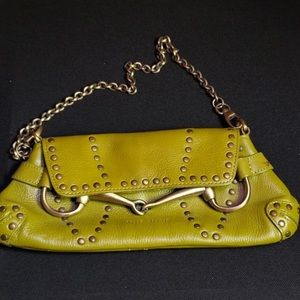 Wilsons Leather Green Purse Perfect Condition
